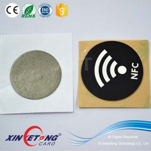 Reading NFC mobile Anti-metal NFC Sticker ,Cheap ISO14443A Ultralight NFC Sticker