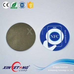 Пользовательские печатных NTAG215 Dia27mm NFC анти металла наклейки