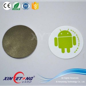 Anti-radiation Dia35mm Anti-metal NFC Sticker for NFC Mobile,Ntag213 144byte NFC Sticker