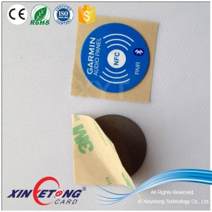 Dia20mm Round NTAG203 Stickers On Metal Full Color Printing