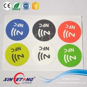 Office Table Labels passive NFC Chip Ntag215 Stickers Interface Protocol ISO14443A