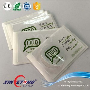 NFC Advisement Dia35mm NTAG213 Sticker on 65*45mm Label