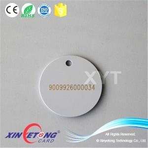 Повесить 13.56 МГц RFID тег тега NFC лазерной печати с отверстием