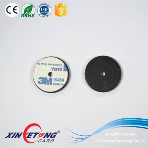 13.56 МГц водонепроницаемый ABS 30 мм черный круглый RFID патруль NFC тег NTAG213 /NTAG215 / NTAG216