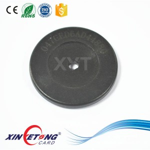 Anti-Metal NTAG213 ABS Tag Dia35mm Round Hole Center