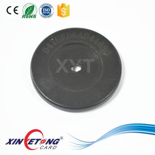 Анти металла NTAG213 ABS тег Dia35mm круглых отверстия центр