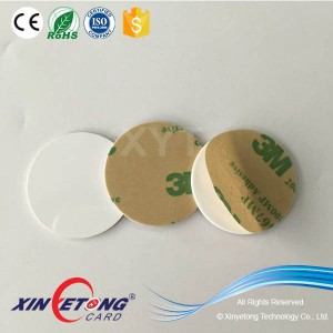 Ntag203 PVC Hard NFC Epoxy Tag With 3M Adhesive