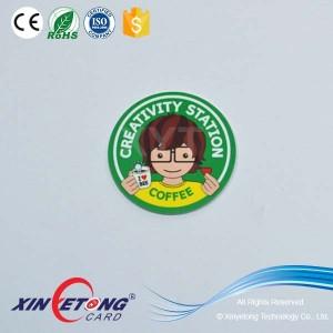 Прозрачный 13,56 МГц NFC диск тег с наименьшей Icode CoinTag QR-код