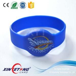 NTAG213 Силиконовый белый браслет значок метки в складе NFC премиум ремешок браслет