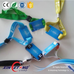 13.56Mhz F08 1k byte Bracelets Event Solution Wristbands