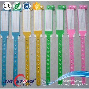 RFID 13.56Mhz Ultralight PVC Hospital NFC Disposable Wristband