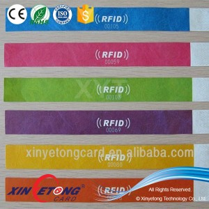 NFC 13.56Mhz NTAG213 Paper Event Disposable Wristbands