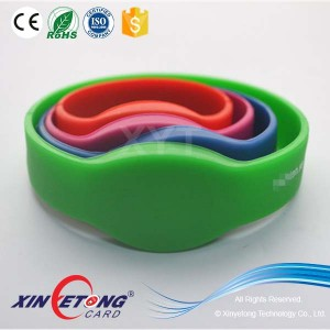 13.56Mhz custom Printing Adjustable RFID Silicone Wristband Bracelets in Swimming Club