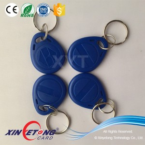 13.56MHz Ultralight Hotel Access KeyTags One Color Print KeyFobs