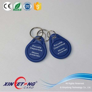 13.56Mhz 1kbyte Campus Card Keyfob Cutomized Logo