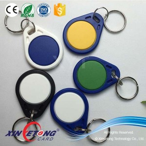 ISO14443A FM11RF08 Colorfull RFID Keyfobs