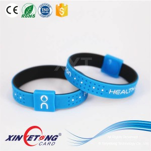 13.56Mhz Newest Model Silicone Wristband NFC NTAG213 Engraved Wristbands