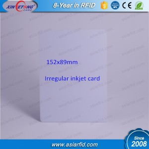 152 x 89mm Irregular Blank Inkjet PVC Card ,Inkjet coating card,Inkjet printable PVC card