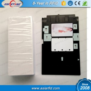 Inkjet PVC Card with Canon/Epson R230/L800/T50 Tray could be with professional technical team and strict quality control system.