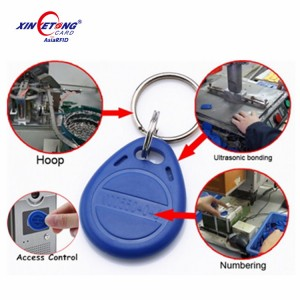 13.56 MHZ RFID IC Card Token Tags Keychain Keyfobs for Access Control Entrance Machine