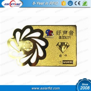 Cut Out VIP Metal Card - nfc,RFID tag, plastic card,pvc cards could be applied in any occasion, especially in your big time