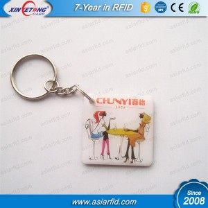 13.56Mhz HF Ultralight C KeyCard With Metal Key Ring For Access Control(28*56MM)