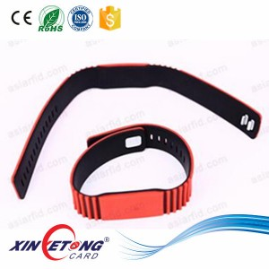 HF Adjustable Silicone RFID Wristband Watch Ultralight(231.5*35MM)