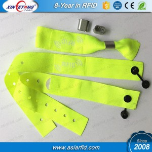 13.56MHZ MF S50 PVC Wristbands are easy to use. And you just need put it on your hands, then pull gently.