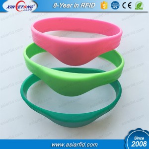 HF Round RFID Silicone Wristband MF Classic 1K S50